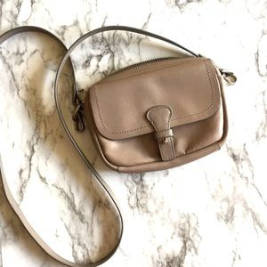 Liebeskind | taupe leather cross body shoulder bag